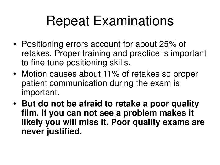 Repeat Examinations