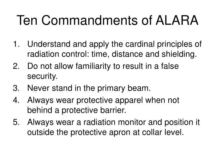 Ten Commandments of ALARA