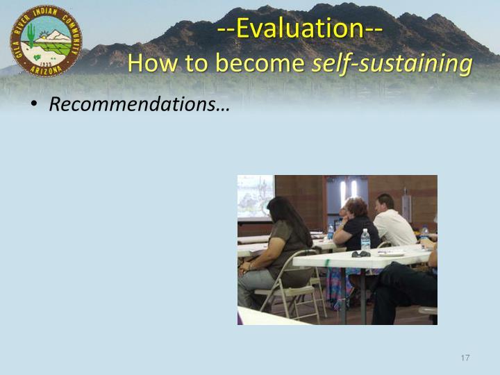 --Evaluation--