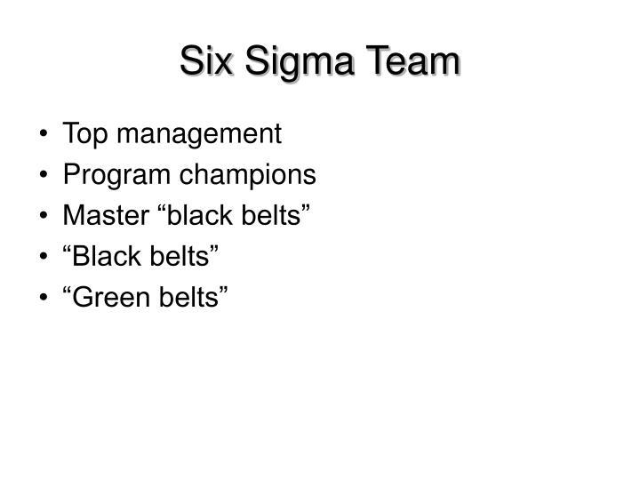 Six Sigma Team