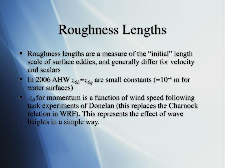 Roughness Lengths
