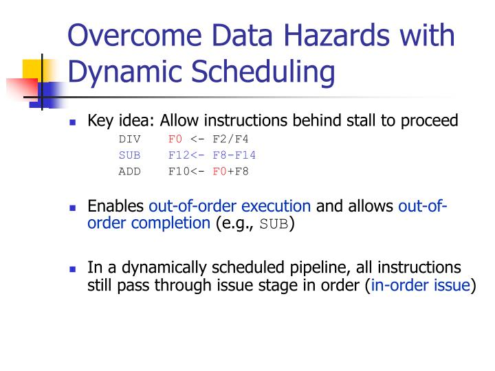 Overcome Data Hazards with Dynamic Scheduling
