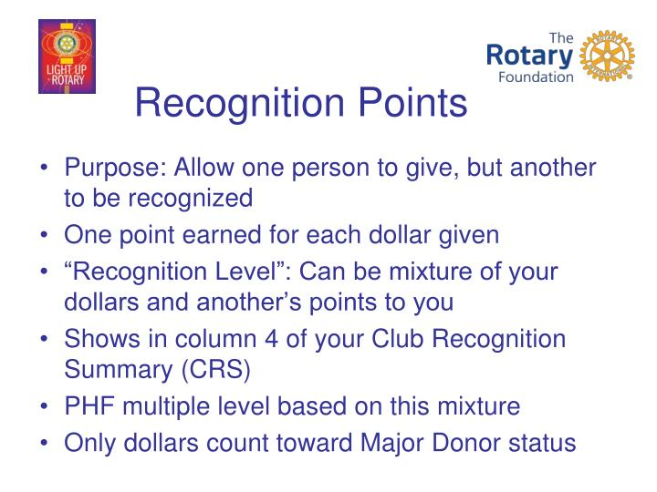 Recognition Points