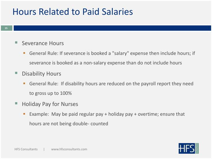 Hours Related to Paid Salaries