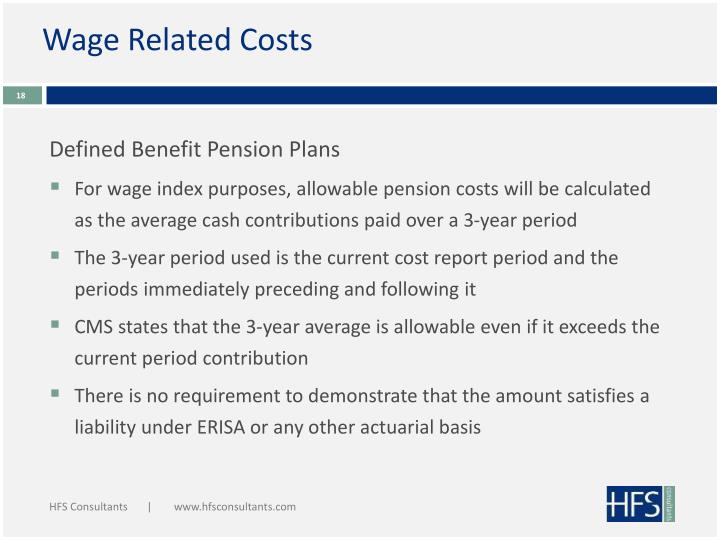 Wage Related Costs