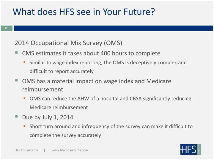 What does HFS see in Your Future?