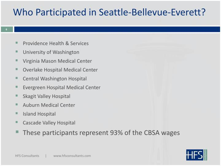 Who Participated in Seattle-Bellevue-Everett?