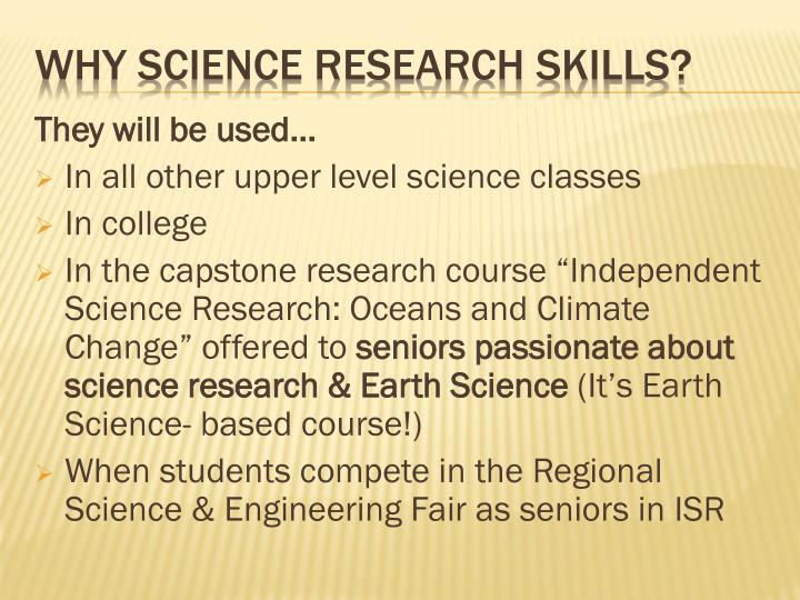Why science research skills1