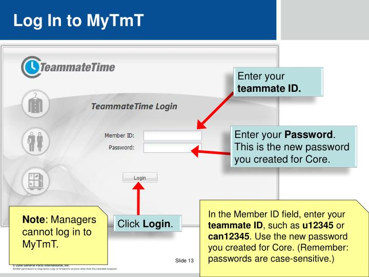 Log In to MyTmT
