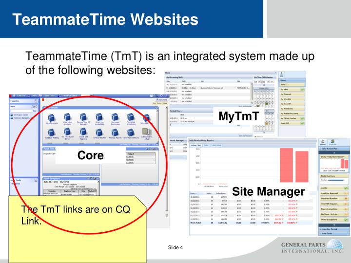 TeammateTime Websites