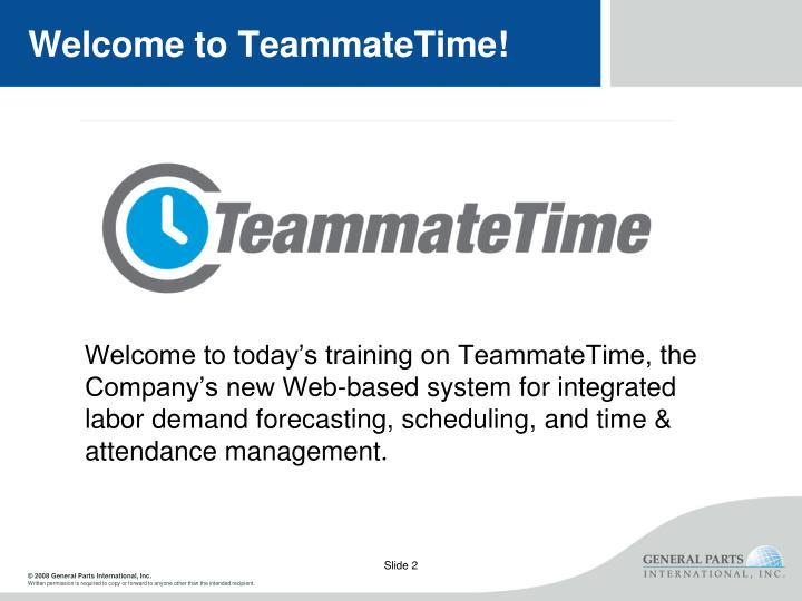 Welcome to teammatetime