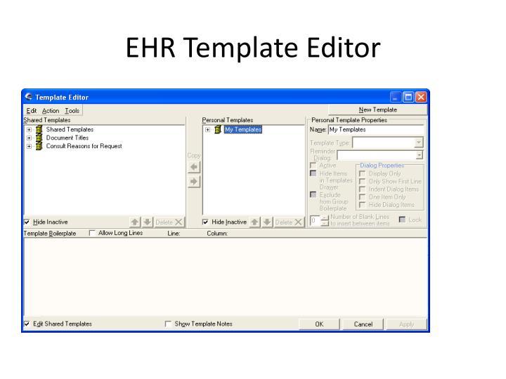EHR Template Editor