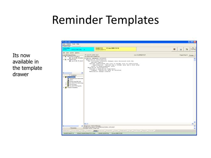 Reminder Templates
