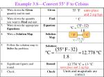 example 3 8 convert 55 f to celsius