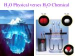 h 2 o physical verses h 2 o chemical