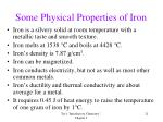 some physical properties of iron