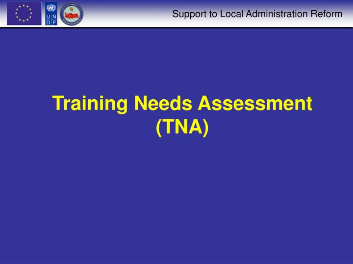 Training needs assessment tna