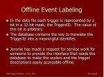 offline event labeling