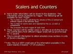 scalers and counters