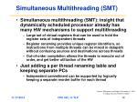 simultaneous multithreading smt