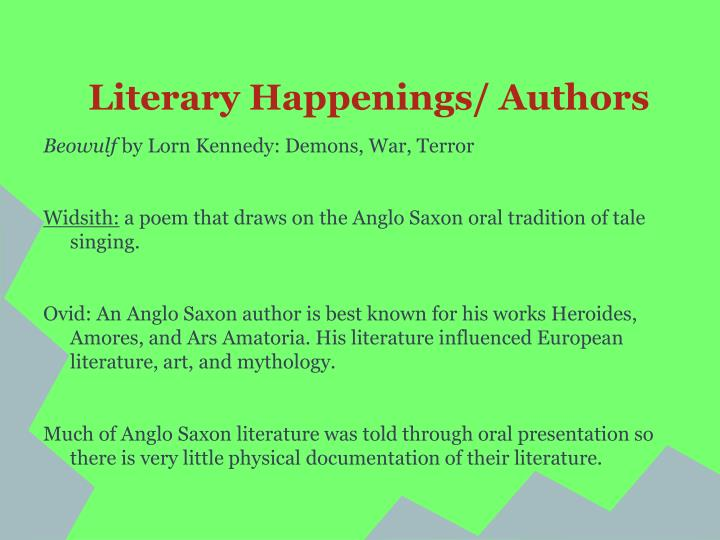 Literary Happenings/ Authors