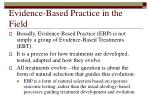 evidence based practice in the field