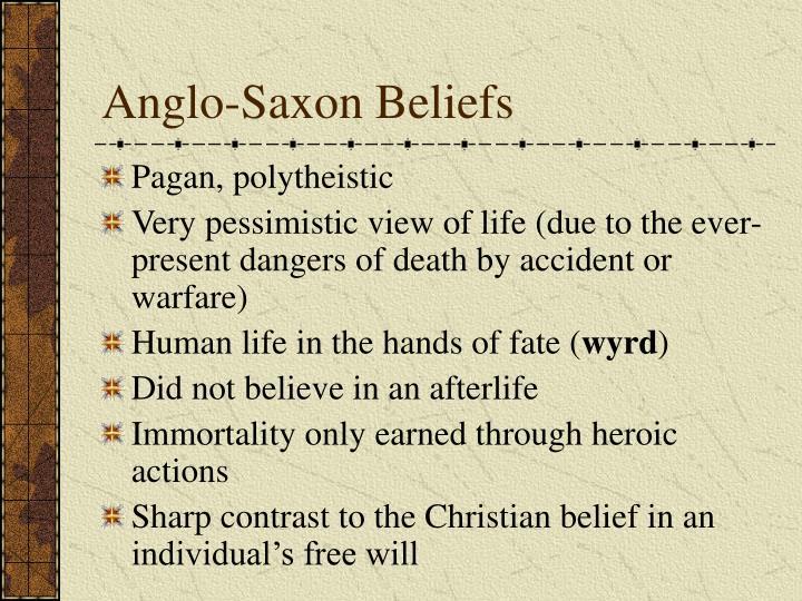Anglo-Saxon Beliefs