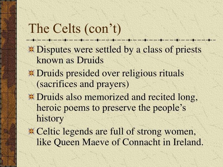 The Celts (con't)