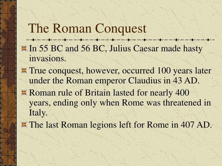 The Roman Conquest