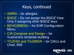 keys continued