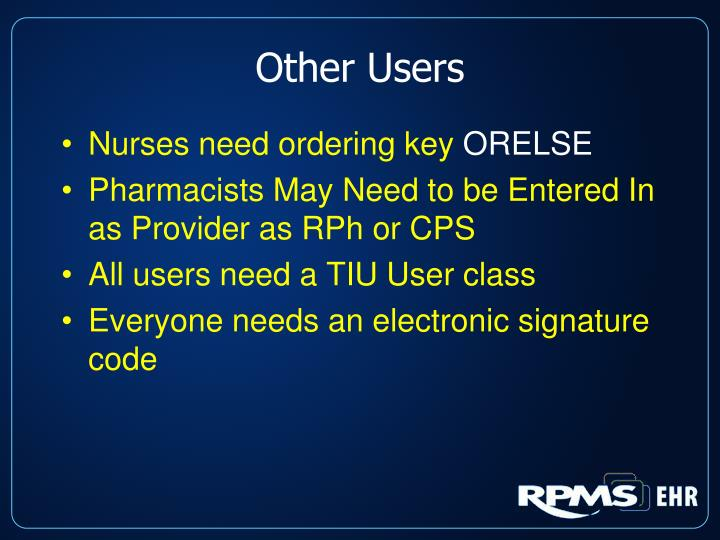 Other Users