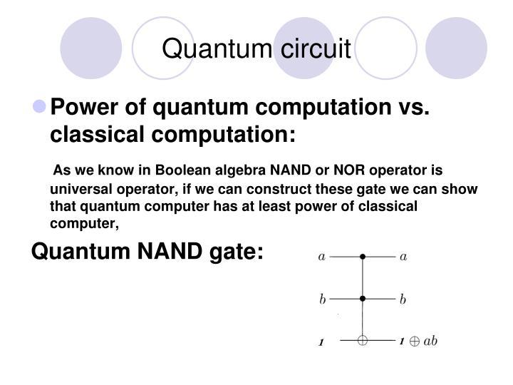 Quantum circuit