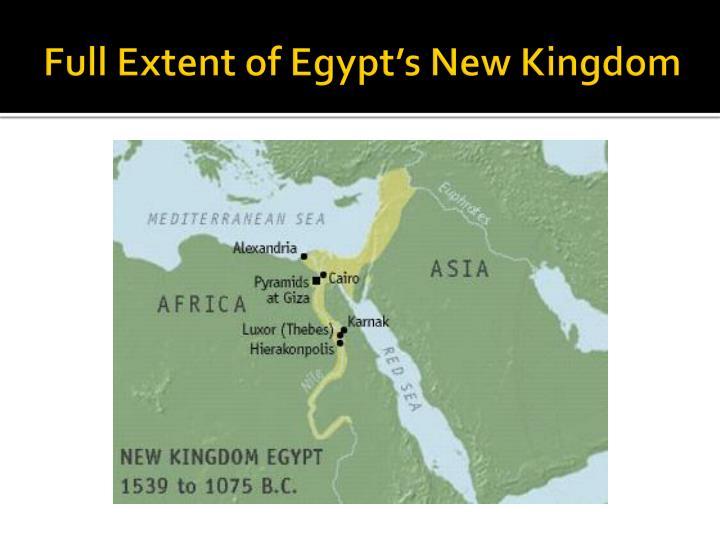Full Extent of Egypt's New Kingdom