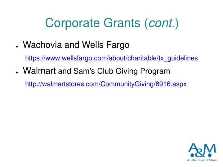Corporate Grants (