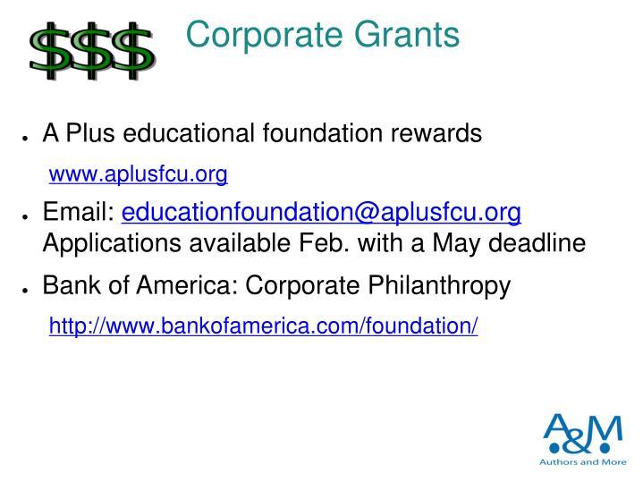 Corporate Grants