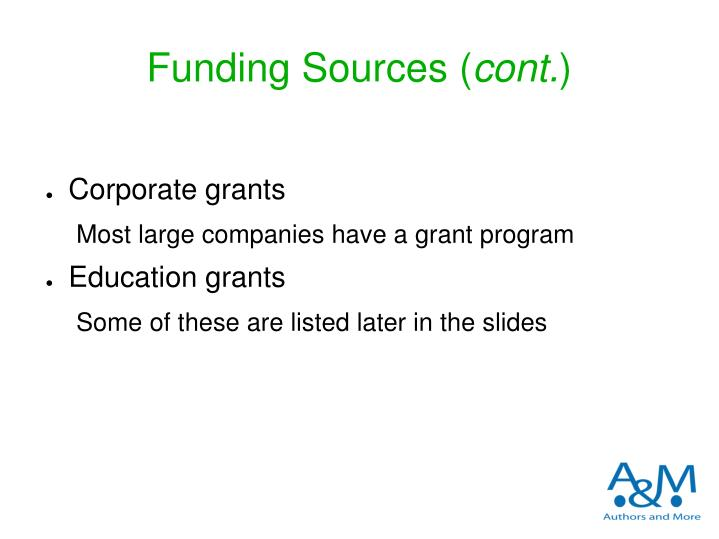 Funding Sources (