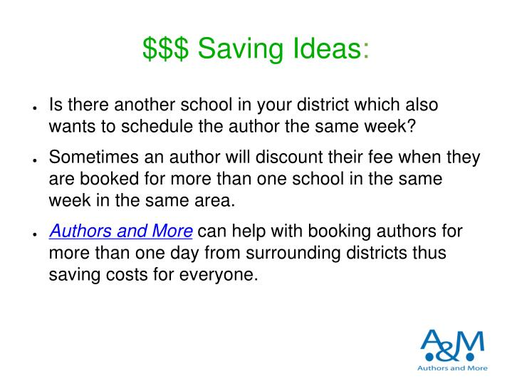 $$$ Saving Ideas