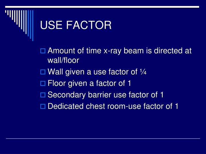 USE FACTOR