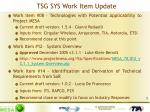 tsg sys work item update