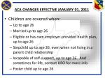 aca changes effective january 01 2011