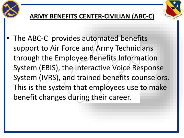 Army benefits center civilian abc c