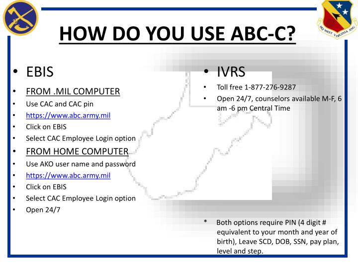 HOW DO YOU USE ABC-C?