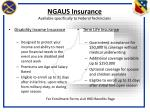 ngaus insurance available specifically to federal technicians