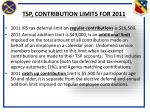tsp contribution limits for 2011