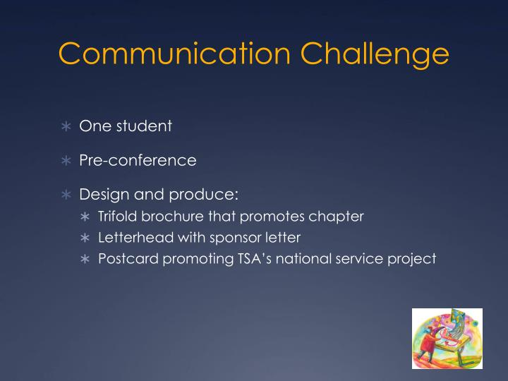 Communication Challenge