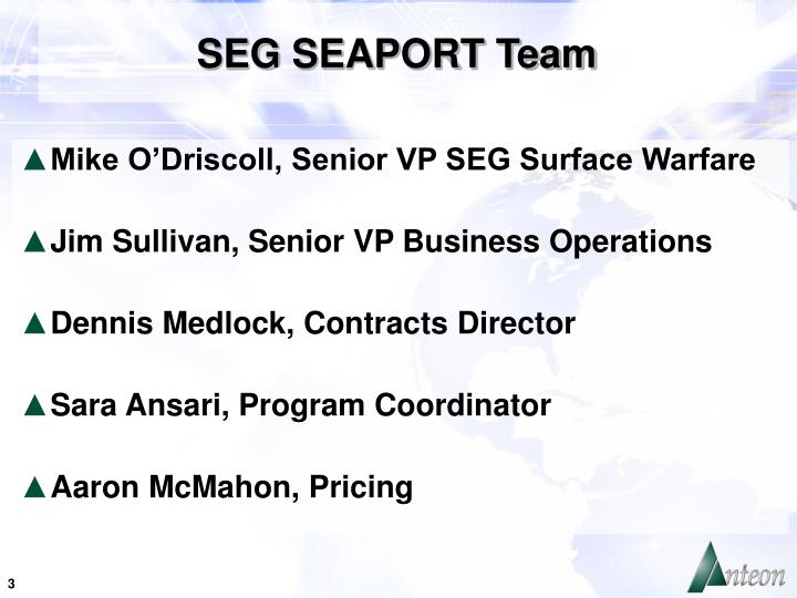 SEG SEAPORT Team