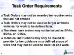 task order requirements