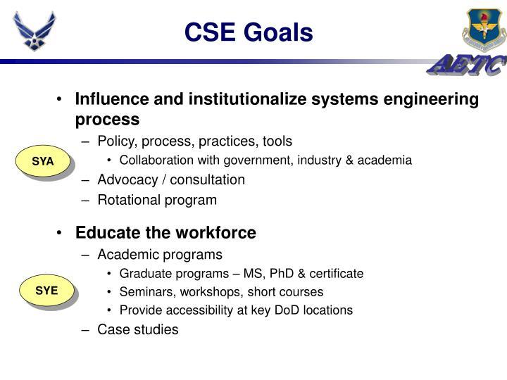 CSE Goals