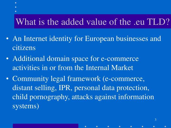 What is the added value of the .eu TLD?