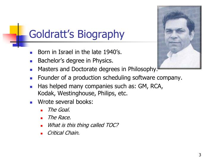 Goldratt's Biography